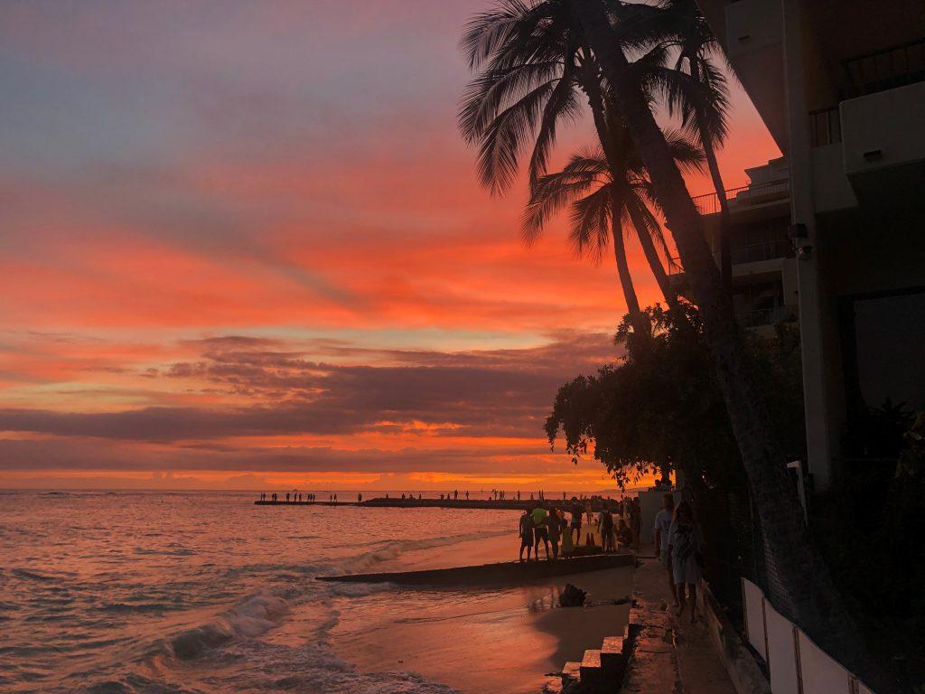 Sonnenuntergang in Honolulu